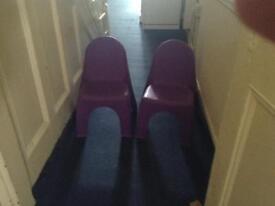 Small purple chair - 2 units