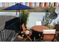 Garden/Terrace table and chairs: PRICE REDUCED - URGENT (before 23.08) - West London