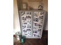 Vintage Tallboy/Cupboard with Beetle design