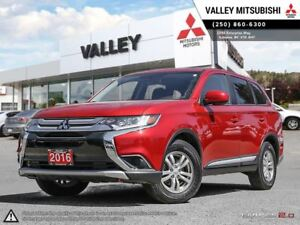 2016 Mitsubishi Outlander ES-AWC, HEATED SEATS, BLUETOOTH, ALLOY