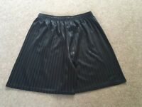 black mens football shorts,sizes l/xl