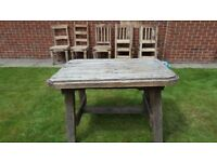 Wooden garden table 1