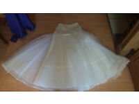 Wedding dress petticoat with elasticated tummy panel at top