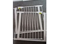 Lindam pressure fit stair gate x2 both with 7cm removal extensions