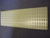 louvered storage panel 137mm x 45mm