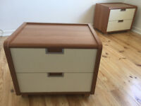Chest of drawers and Bedside drawers x 2 Italian made