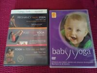 Yoga DVDs for pregnancy, post natal and baby