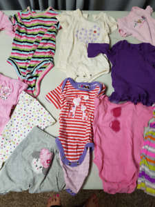 Girls 0 to 3mth clothing over 100 pieces