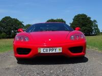FERRARI 360 AUTO F1 RED BLACK LEATHER V/2000 CAPRISTO EXHAUST FSH SUPERCAR NOT PORSCHE LAMBO