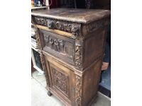 Old hand carved cabinet