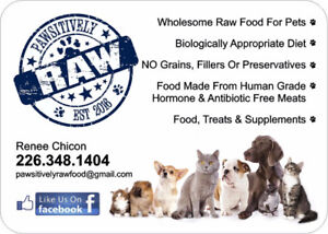 RAW FOOD FOR DOGS AND CATS - PAWSITIVELY RAW