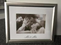 Me and Mrs wedding picture frame