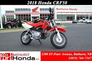 2018 Honda CRF50 Parental speed governor! Controls designed for