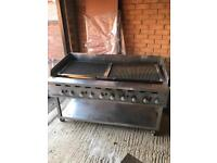 Large gas grill with brand new griddle excellent condition steak grill