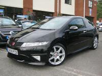 2009 59-Reg Honda Civic Type R GT,NIGHTHAWK BLACK,SAT NAV,BLUETOOTH,LOOK!!!!
