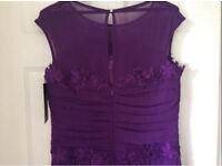 Purple Occasion Dress BRAND NEW WITH TAGS Size 14