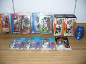 HOCKEY,BASEBALL BOBBLEHEADS,ROOKIE FIGURES, MASK, CARD LOT