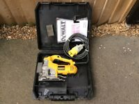 OWNED FROM NEW DEWALT 110V JIGSAW COMPLETE WITH CARRY CASE DW331K - LX