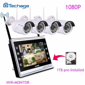 """Wifi Security System with Monitor 11"""" Wireless CCTV Cameras"""