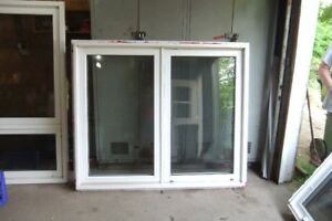 Solid vinyl windows