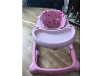 Girls baby walker with activity tray