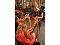 Traditional Lever Harp (Clarsach) and Piano Lessons for all Ages and Abilities!