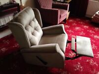 Recliner Armchair - Gray Velvet Fabric - £20