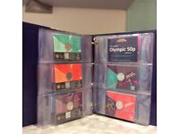 THE FULL OLYMPIC 29 COIN SET ALL IN INDIVIDUAL PACKS BU WITH SPECIAL COLLECTORS BINDER -STUNNING !!