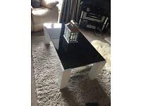 Black glass coffee table designer style