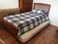 Single bed with roll away