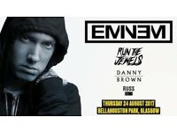 Two Eminem tickets Glasgow