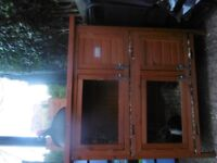 double hutch with cover and 2 male guinea pigs