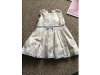 Mamas & papas white dress 2-3