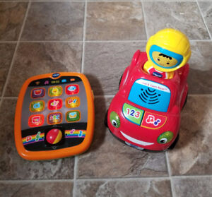 VTECH BABY LOT - TINY TOUCH TABLET AND MOVE & ZOOM RACER CAR