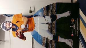 Peyton Manning Denver Bronco 4' stand up cut out