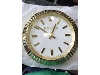 Rolex classic model wall clock Gold limited edition