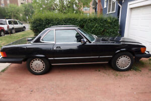 1987 MB 560SL Rare Black on Black