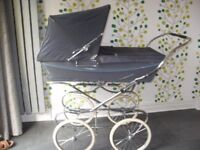 Grey Silver Cross Pram bought in 1984 and for one baby only has been in storage since