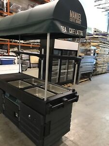 LIKE NEW! CamKiosk Portable Catering/Coffee Station