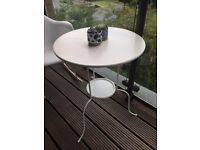 White Patio Garden Balcony table