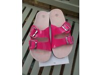 Brand new boxed pink sandals size 6