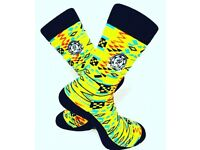 DeesSocks (Yellow Kente)