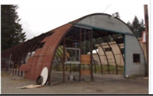40' x 100' Metal Quonset for sale.