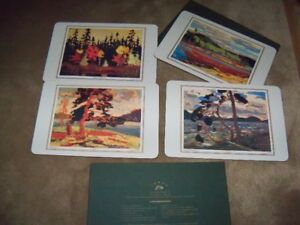 Tom Thomson Grp of 7 Collection Place Mats, Brand New, In box.