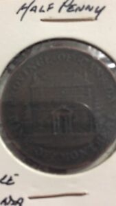 Old Canadian coins and meat ration token