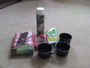 Camping Cups, Tablecloth, Fire Sticks, Silicone Waterproofing
