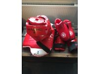 Kids (Macho) TKD Sparring equiptment - Helmet, Foot, Shin and Body
