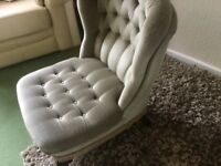 Green Low Chair - lounge, nursery, conservatory, bedroom - very comfy
