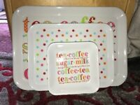 3 piece tea tray