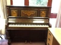 "Upright piano Well used Needs tuning Book stand 53"" Wide Delivery available Madeley, Telford"